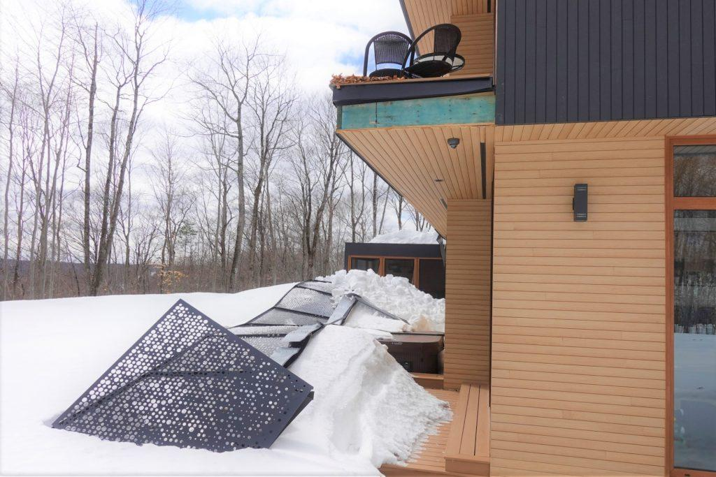 Damage from metal roof snowfall